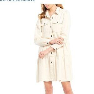 Free People Denim Button Duster Jean Jacket Coat